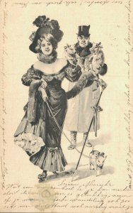 Romantic Couple Vintage Viennese Style 04.00
