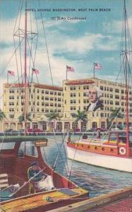 Florida West Palm Beach Hotel George Washington 1955