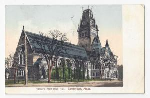 Cambridge MA Harvard Memorial Hall Amesbury Flag Cancel 1909