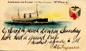 American Line - US Mail Steamer St Paul