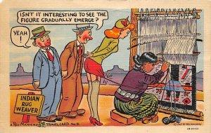 Indian rug waiver Cartoon Spinning Wheels & Weaving PU 1952