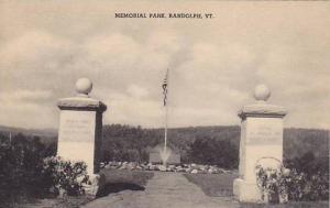 Memorial Park, Randolph, Vermont, 00-10s