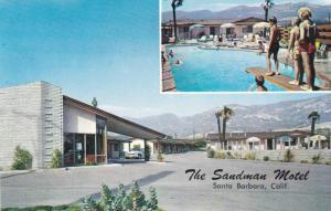 2- Views, The Sandman Motel, Swimming Pool, Santa Barbara, California, 1940-1...
