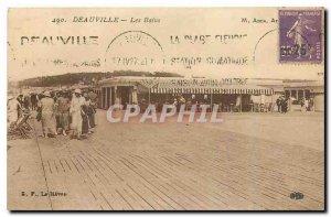 Old Postcard Deauville Les Bains