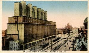 Canada - Quebec, Montreal. Grain Elevator at Harbour