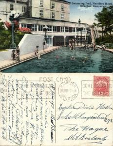 bermuda, HAMILTON, Swimming Pool Hamilton Hotel (1931) Stamp