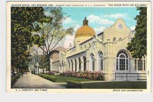 PPC POSTCARD ARKANSAS HOT SPRINGS QUAPAW BATHS THE HOUSE WITH THE BIG DOME E.L.