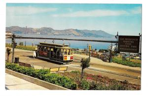 San Francisco CA Cable Car Powell and Hyde Turnaround Vntg HS Crocker Postcard