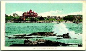 c1904 YORK, Maine Postcard PASSACONAWAY INN Hotel / Ocean View -Detroit Unused