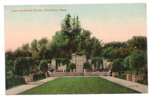 Brookline MA Postcard Larz Anderson Garden ca 1910 Vintage