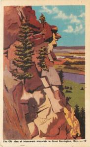 Great Barrlington Massachusetts~The Old Man Of Monument Mountain~1940s PC