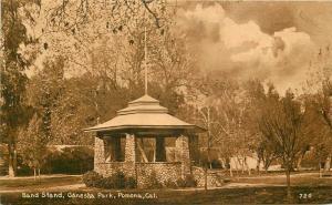 Band Stand Ganesha Park Pomona California Mitchell C-1910 Postcard 5648