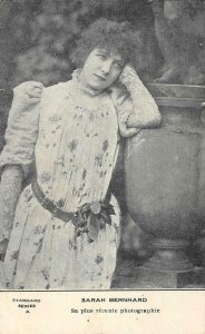 SARAH BERNHARDT French Stage Actress Theater c1900s Vintage Postcard