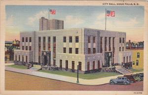 Exterior,  The City Hall,  Sioux Falls,   South Dakota,  PU_1942