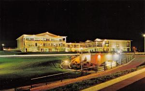 Pueblo CO~Colorado State College~College Center Night Lights~1970s Postcard