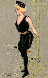 Larchmont Girl        Artist: Hamilton King  (Bathing Beauty Series)