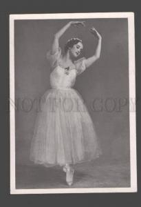 095338 KURGAPKINA Famous Russian BALLET Star DANCER old PHOTO