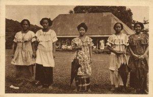 PC CPA SAMOA, PACIFIC, JEUNES ELÉVES DES SCEURS D'APIA, Postcard (b19464)