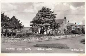 Milburn Arms Hotel Pub Yorkshire Rosedale Abbey Vintage Real Photo Postcard