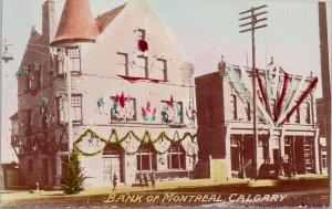Calgary Alberta Bank of Montreal Real Photo Postcard G93 *as is