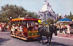 Disneyland, 1961, Canceled, Rubys Inn UT, Streetcar, Main Street, Old Postcard