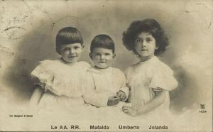 Princesses Mafalda and Yolanda of Savoy, The May King Umberto II of Italy (1907)