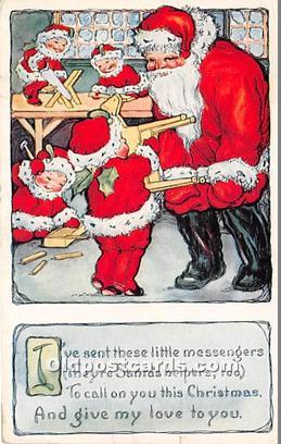 Santa Claus Postcard Old Vintage Christmas Post Card Santa Claus Christmas, P...