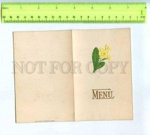 256059 MENU embossed folding card w/ flower