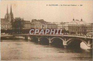 Old Postcard Bayonne Bridge over the Adour