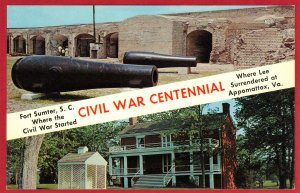 CIVIL WAR CENTENNIAL, FORT SUMTER, S.C. & APPOMATTAX, VA  SEE SCAN