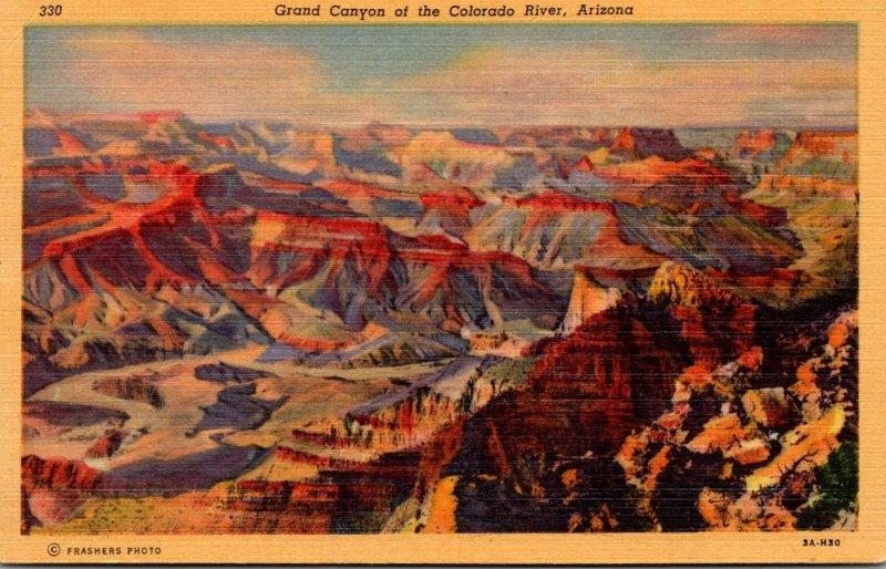 Arizona Grand Canyon Of The Colorado River Curteich