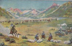 The Roundup by Cowboy Artist L H Dude Larsen