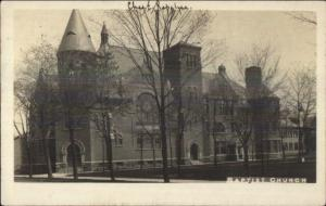 Elmira NY Cancel Baptist Church 1908 Real Photo Postcard