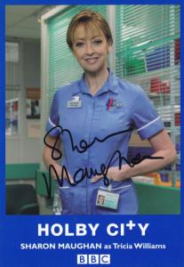Sharon Maughan as Tricia Holby City BBC Hand Signed Cast Card Photo