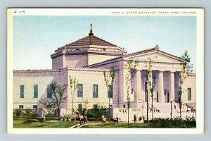 Chicago IL-Illinois, John G Shedd Aquarium, Chrome Postcard