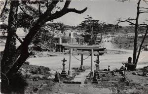 B40/ Japan Futema Torii Foreign Real Photo Postcard Village Scene People c1950