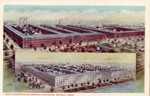 THE STUDEBAKER AUTOMOBILE FACTORIES, DETROIT, MICH. two locations
