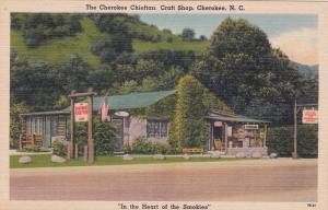 CHEROKEE, North Carolina, 30-40s; The Cherokee Chieftan Craft Shop