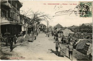 VIETNAM INDOCHINE - Cochinchine - Cholon - Les Quais (190328)