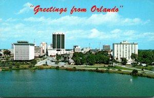 Florida Orlando Greetings Showing Skyline From Lake Lucerne