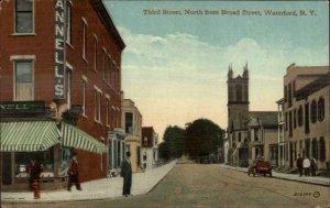 Waterford NY Third Street c1910 Postcard
