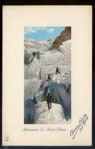 Climbing Mont Blanc Switzerland c1910 unused