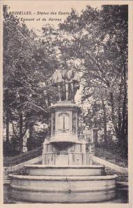 Belgium Brussels Bruxelles Monument Statue Des Comtes D Egmont Et De Hornes
