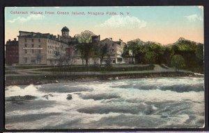 New York NIAGARA FALLS Cataract House from Green Island - Divided Back