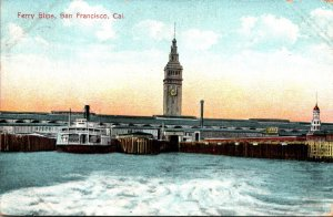 California San Francisco Ferry Slips 1909