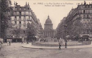 France Paris La Rue Soufflet et le Pantheon