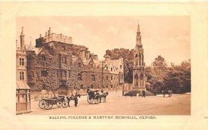 Balliol College & Martyrs Memorial Oxford United Kingdom, Great Britain, Engl...