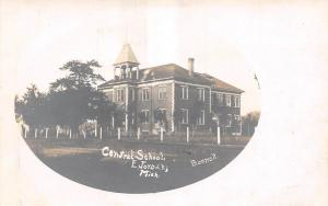 Michigan MI Real Photo RPPC Postcard c1910 EAST JORDAN Central School Building