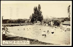 Blue Mounds Recreation Park, Swimming Pool (1945) RPPC