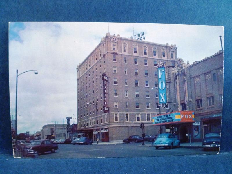 Postcard Ne North Platte 1950 S Street View Fox Theatre Ee Hotel